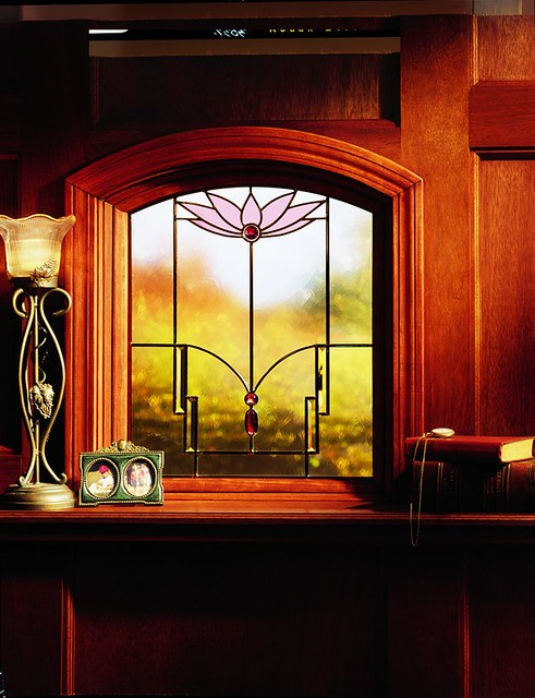 400 series art glass classic series lotus design for Window design 4 6