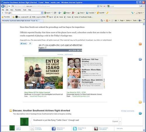 Screen shot of Meg n Me as ad material