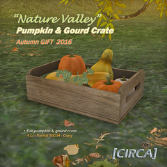 "@ SOS Event - [CIRCA] - ""Nature Valley"" - Pumpkin & Gourd Crate"