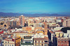 Panorama of the city of Valencia ,Spain