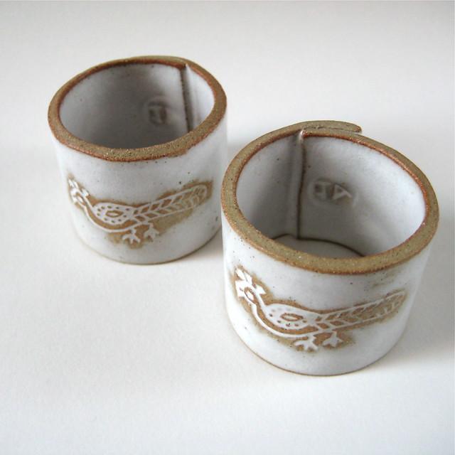 ceramic napkin rings ceramic napkin rings handbuilt