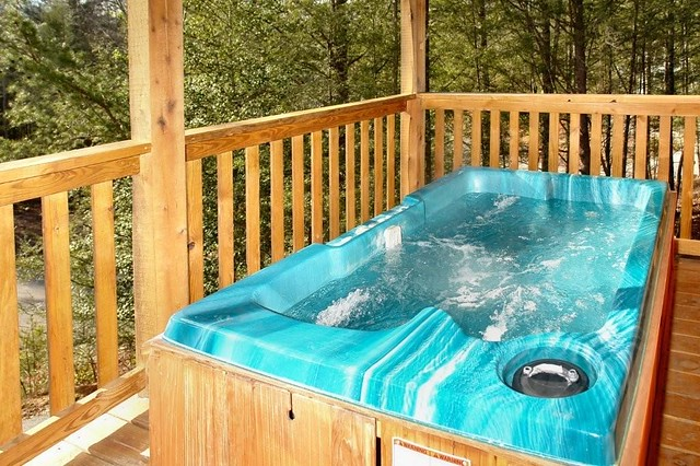 Hot Tub In This Large Pigeon Forge Cabin Rental Near