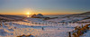 • Winter Landscape Ring of Kerry - beautiful Sunset over snowy Puffin Island and Skelligs, I love the Skelligs