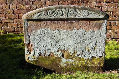Lichen: Enville churchyard