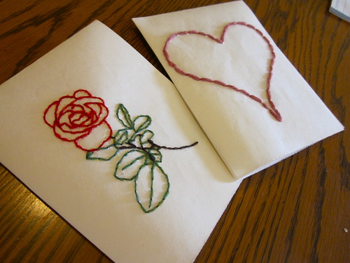 Hearts and flowers (50 crafts #5 and #6)
