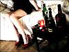 Xampany, vodka, tacons En la fotografia: