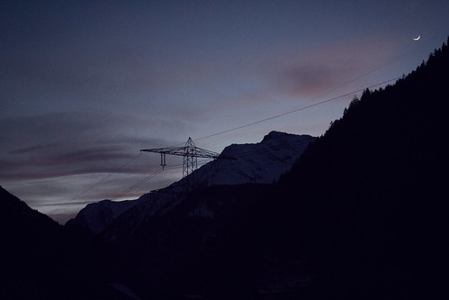 sunset mountain austria mayrhofen