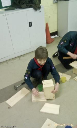 Greenfinch Troop - Making bird boxes