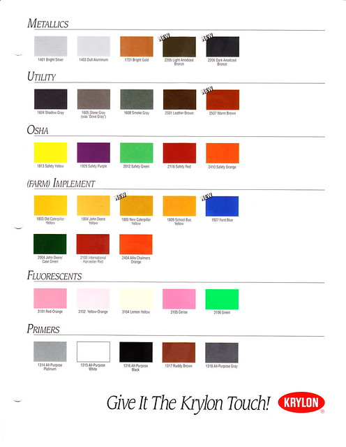 1995 Krylon Color Chart Page 2 Flickr Photo Sharing