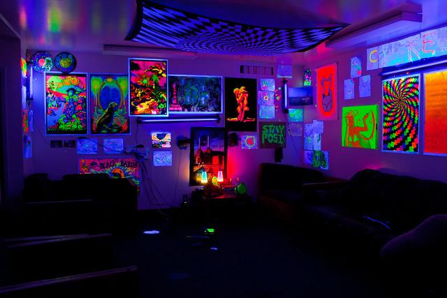 Dorm Rooms Blacklight