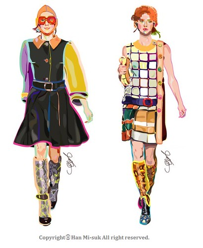 Prada 2011 f/w fashion illustration