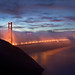 Foggy Golden Gate Bridge at Dawn - San Francisco, CA