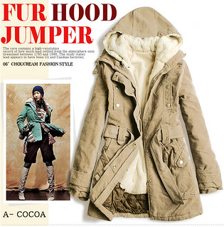 Two-piece Winter Long Coat Hooded