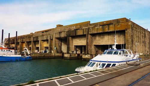 base sous marine allemande la pallice, la rochelle, bunker