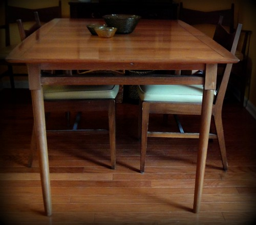 Freecycled midcentry modern table and chairs