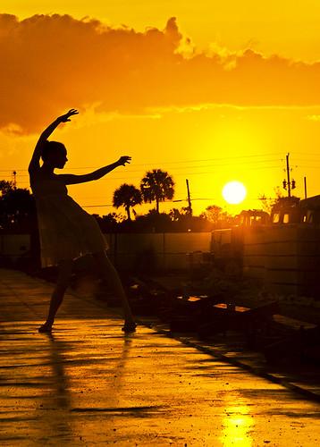 sunset reflections dancing florida westpalmbeach