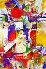Impressionistic DeStijl - iPhone Background