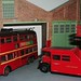 London transport trolleybus 61 and tower wagon 1/76th scale.