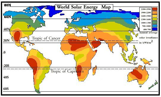 CCRES SOLAR ENERGY MAP