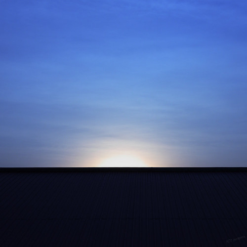 blue sunset sky minimal minimalism kotsuwaporn