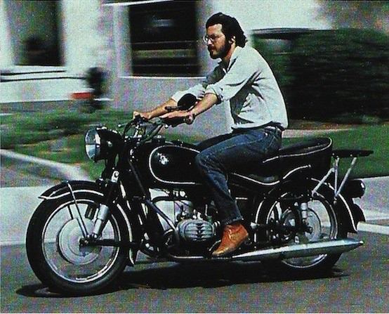 Steve jobs and his bmw motorcycle circa 1982 network world for Mercedes benz employment