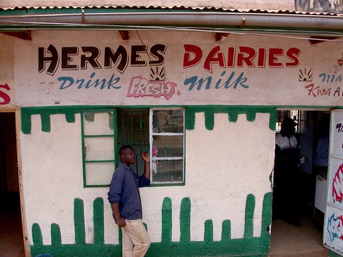 Typical milk bar in Kenya