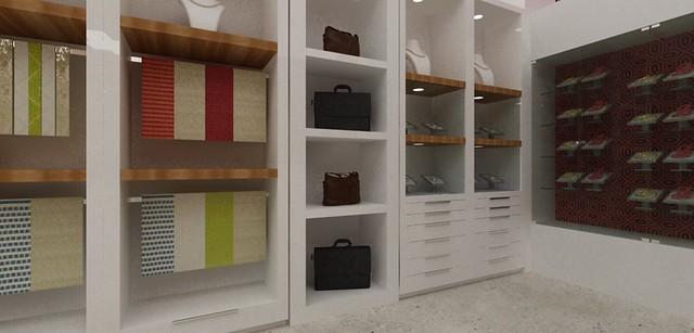 Mobiliario para exhibicion y venta de accesorios, bolsos, mascadas. Diseño de...