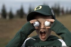 golf ball eyes