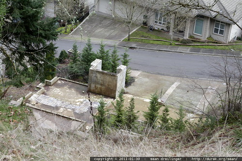 ghost   foundation remains from mudslide