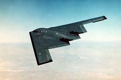 lockheed martin f-22 raptor(0.0), rocket powered aircraft(0.0), lockheed f-117 nighthawk(0.0), fighter aircraft(0.0), aviation(1.0), military aircraft(1.0), airplane(1.0), wing(1.0), vehicle(1.0), northrop grumman b-2 spirit(1.0), jet aircraft(1.0),