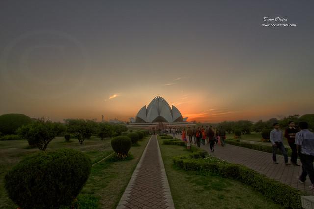 Sun Set Lotus Temple