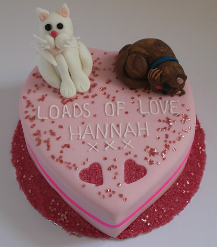 Cat Lovers Valentine Cake