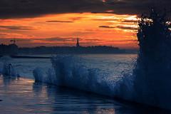 grande marée sur le sillon, saint malo