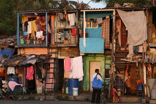 Slum terrace in Bandra