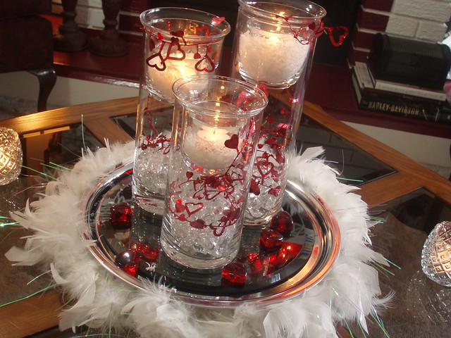 Valentine feather boa centerpiece flickr photo sharing