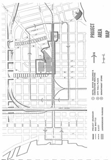 Oakland City Center: Project Area Map (1967)