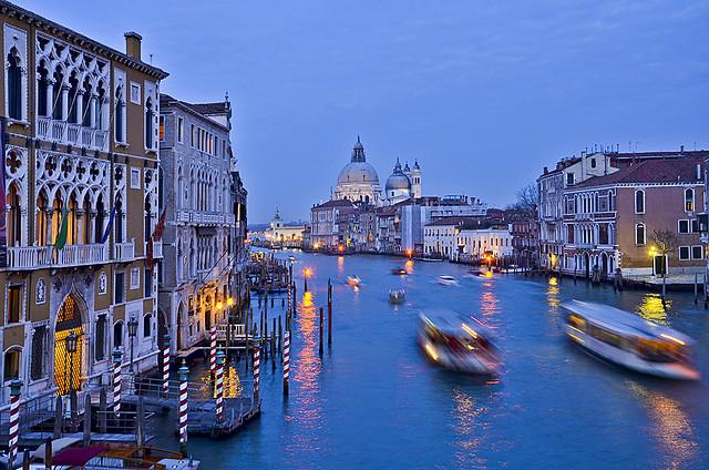 Grand Canal Vaporetti, Venice, Italy.