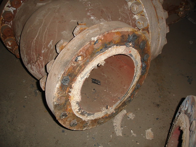 Asbestos gasket debris from steam valve flange flickr
