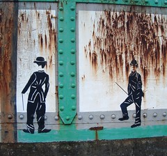 Cheltenham ... Charlie Chaplin and some rust.