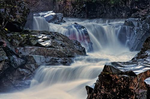 water river waterfall washington rocks stream falls granitefalls