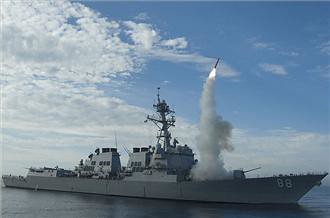 Cruise missiles being launched in the Mediterranean against the North African state of Libya. There were thousands killed and many more injured by the U.S. and European military bombings. by Pan-African News Wire File Photos