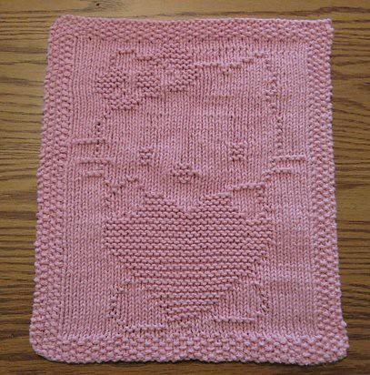 Hello Kitty Dishcloth Knitting Pattern : Hello Kitty dishcloth Flickr - Photo Sharing!