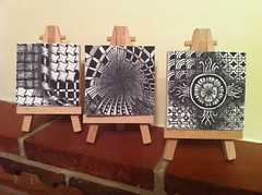 Zentangle mini-canvases