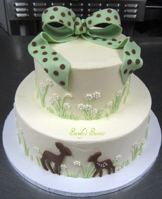 deer baby shower cake flickr photo sharing