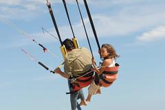 kite sports, adventure, air sports, sports, parachuting, windsports, wind, extreme sport,