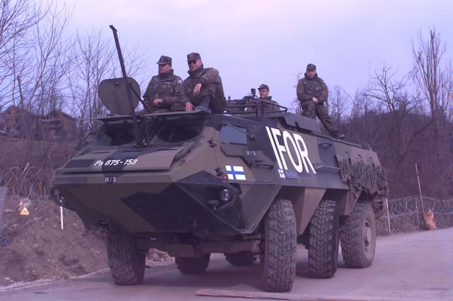 Un tanque finlandés
