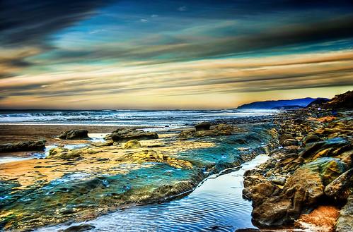 sea oregon coast sand rocks sigma 18200 hdr cs4 hss bellabeach photomatix nikond80 topazadjust mygearandme happyslidersunday