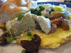 Mushroom and Artichoke Omelette