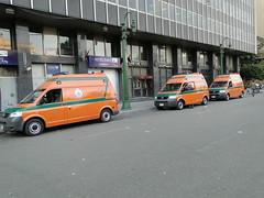 Ambulances at Entrance of Tahrir Square