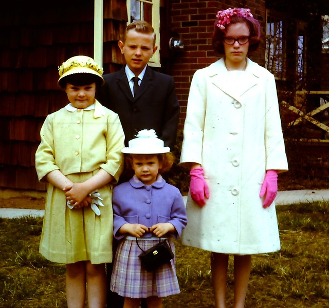 1966 Vintage 35mm Slide Photo Easter Outfits Staten Island
